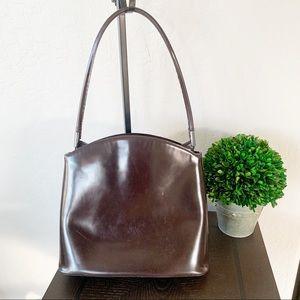 Giorgio Armani Brown Leather Vintage Bag
